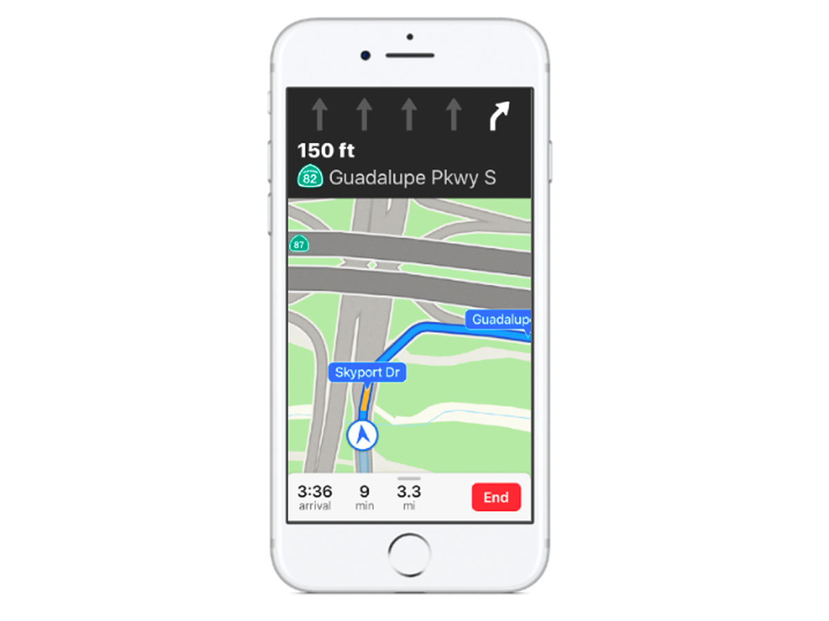 Capabilities of Indoor Maps and Lane Guidance by Apple